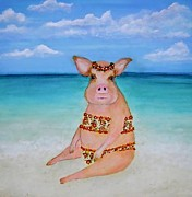 Natalie Singer - Swimming Pig