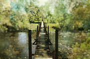 Kathy Jennings Prints Prints - Swinging Bridge Print by Kathy Jennings