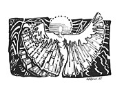 Angelic Drawings - Swoosh Left by Debra Lynn Birchell