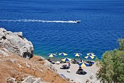 Yialos Beach Prints - Symi island Greece Print by David Fowler