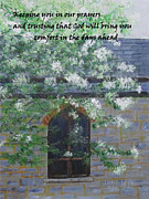 Sympathy Painting Posters - Sympathy Card with Church Poster by Linda Feinberg