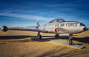 Lockheed Photo Metal Prints - T-33 Shooting Star Metal Print by Steve Benefiel