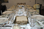 Devote Framed Prints - Table set for a Jewish Festive meal on Passover  Framed Print by Ilan Rosen