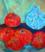 Vine Pastels - Table with Fruit by Beth Sebring