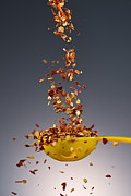 Food Art - 1 Tablespoon Red Pepper Flakes by Steve Gadomski