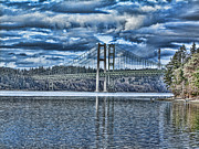 Ron Roberts Photography Prints Framed Prints - Tacoma Narrows Bridge Framed Print by Ron Roberts