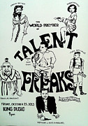 Sideshow Drawings Prints - Talent Freaks Promotion Poster Print by Jordan Beiter