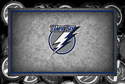 Puck Framed Prints - Tampa Bay Lightning Framed Print by Joe Hamilton