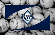 Baseballs Framed Prints - Tampa Bay Rays Framed Print by Joe Hamilton