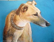 Racing Pastels - Tan Greyhound by Howard Scherer