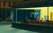 Tardis Framed Prints - TARDIS v. Edward Hopper Framed Print by GP Abrajano