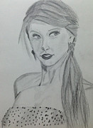 Taylor Swift Drawings - Taylor Swift by Bilal Zakir