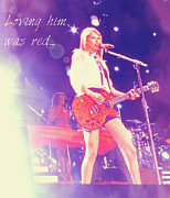 Taylor Swift Art - Taylor Swift Performing by Kasey Zadakis