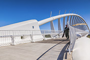 Zealand Posters - Te Rewa Rewa Bridge Taranaki New Zealand Poster by Colin and Linda McKie