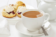 Dessert Prints - Tea and Scones Print by Colin and Linda McKie
