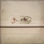 China Rose Framed Prints - Tea Cup Framed Print by Joana Kruse
