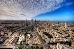 Tel Aviv Digital Art Posters - Tel Aviv Skyline Poster by Ron Shoshani