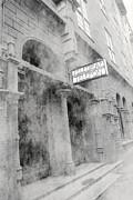 Telegraf Building In Foggy Oslo Print by Sophie Vigneault