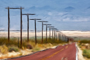 Nevada Painting Posters - Telegraph Road Poster by Stefan Kuhn