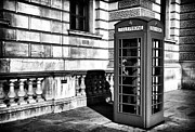 Telephone Booth Posters - Telephone Poster by John Rizzuto
