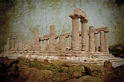 Flower Picture Posters - Temple of Juno Lacinia in Agrigento Poster by RicardMN Photography