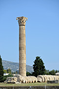 Temple Of Olympian Zeus In Athens Print by George Atsametakis