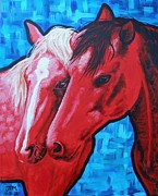 Western.love Painting Prints - Tender Print by Jonelle T McCoy