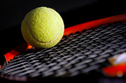 Racquet Prints - Tennis equipment Print by Michal Bednarek