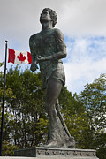 Jason Terry Framed Prints - Terry Fox Monument Framed Print by Jason O Watson