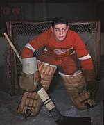 Hockey Photos - Terry Sawchuk Poster by Sanely Great