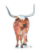 Burnt Originals - Texas Longhorn  by Kathleen McElwaine