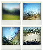 Frosted Glass Posters - Textured surfaces Poster by Les Cunliffe