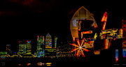 Canary Metal Prints - Thames Barrier and Docklands Metal Print by Dawn OConnor