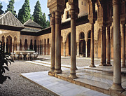 Leones Posters - The Alhambra Patio de los Leones Poster by Guido Montanes Castillo