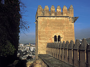 Alhambra De Granada Prints - The Alhambra Tower of the Picos Print by Guido Montanes Castillo