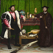 Hans Holbein The Younger - The Ambassadors by Hans Holbein the Younger