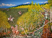 Beaver Pond Paintings - The Aspen Dash by JD Turpin