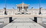 Greek Sculpture Framed Prints - The Austrian Parliament Framed Print by JR Photography
