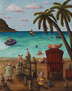 Jet Ski Paintings - The Bacon Shortage by Leah Saulnier The Painting Maniac