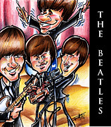 Big Mike Roate Mixed Media Framed Prints - The Beatles Framed Print by Big Mike Roate