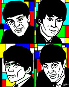 Fab Four Digital Art - The Beatles by Glenn Cotler
