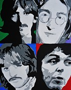 British Music Art Paintings - The Beatles by Nickie Mantlo