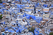 The Houses Prints - The Blue City of Jodhpur in India Print by Robert Preston