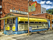 Old Caboose Posters - The Blue Moon Diner Poster by Mountain Dreams