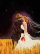 Bride And Groom Paintings - The Bride by Jeanette Sthamann