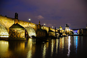 Charles Bridge Prints - The Bridge Across Print by Syed Aqueel