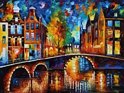 Leonid Afremov - The Bridges Of Amsterdam
