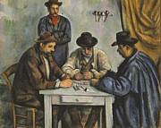 Card Players Prints - The Card Players Print by Paul Cezanne