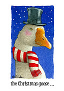 Geese Paintings - the Christmas goose by Will Bullas