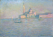 Maggiore Paintings - The Church of San Giorgio Maggiore Venice by Claude Monet